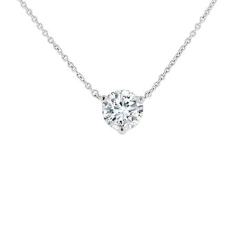 1ct tw NewBorn Lab Created Diamond Solitaire Necklace in 14K White Gold