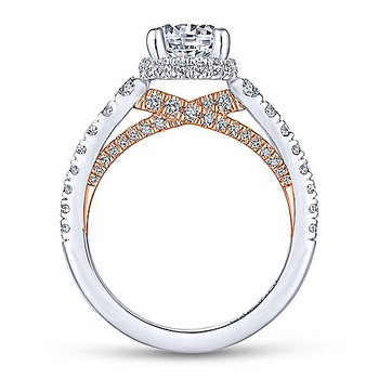 1 7/8ct tw Diamond Engagement Ring in 14K White & Rose Gold
