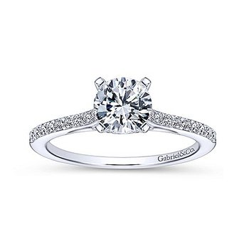 1/5ct tw Diamond Engagement Ring Setting in 14K White Gold