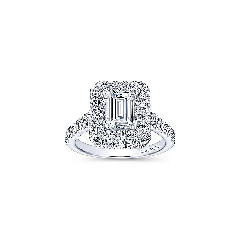 2 1/4ct tw Diamond Halo Engagement Ring in 14K White Gold