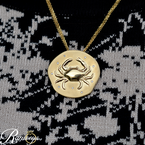 .05ct tw Diamond Nola Collection Crab Necklace in 14K Yellow Gold