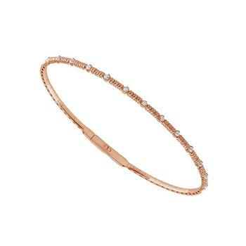 1/5ct tw Diamond Bangle Bracelet in 14K Rose Gold