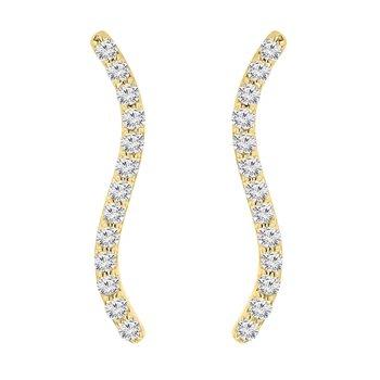 1/4ct tw NewBorn Lab Created Diamond Ear Climbers in 14K Yellow Gold