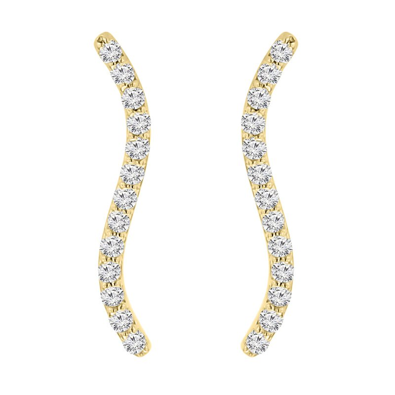 1/4ct tw NewBorn Lab Created Diamond Ear Climbers in 14K Yellow Gold
