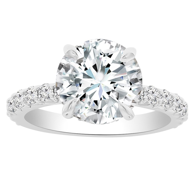 3 3/4ct tw NewBorn Lab Created Diamond Engagement Ring in 14K White Gold