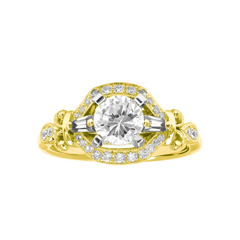 1 1/3ct tw Diamond Halo Engagement Ring in 14K Yellow Gold