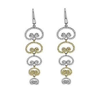 2ct tw Diamond Fashion Earrings in 14K White & Yellow Gold