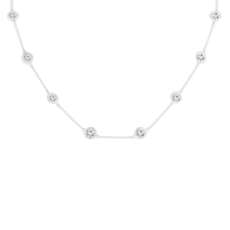 2ct tw NewBorn Lab Created Diamonds by the Yard Necklace in Sterling Silver