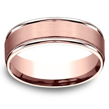 7mm Wedding Ring in 14K Rose Gold