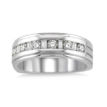 3/4ct tw Diamond Wedding Ring in 14K White Gold