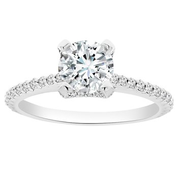 1 5/8ct tw NewBorn Lab Created Diamond Engagement Ring Setting in 14K White Gold