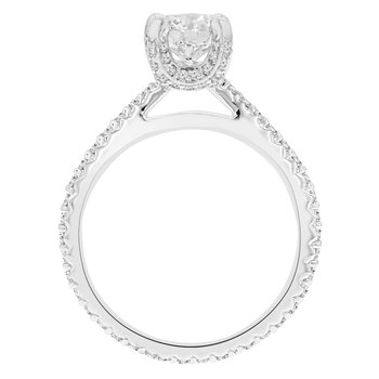 1 5/8ct tw NewBorn Lab Created Diamond Engagement Ring in 14K White Gold