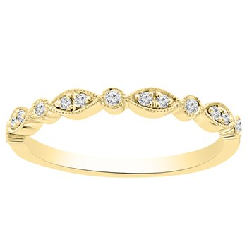 1/10ct tw NewBorn Lab Created Diamond Wedding Ring in 14K Yellow Gold