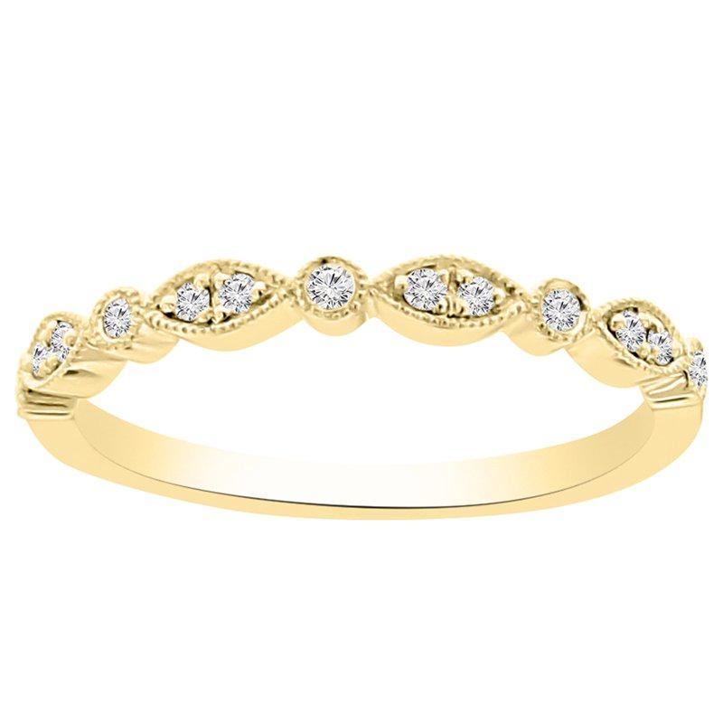 1/10ct tw NewBorn Lab Created Diamond Wedding Ring in 14K Yellow Gold