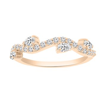 1/2ct tw NewBorn Lab Created Diamond Wedding Ring in 14K Rose Gold