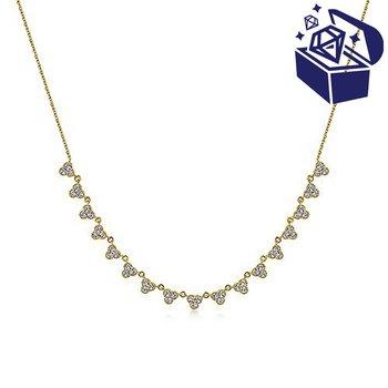 Treasure Hunt Value 5/8ct tw Diamond Choker Necklace in 14K Yellow Gold