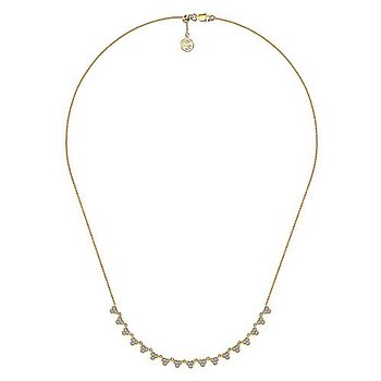 5/8ct tw Diamond Choker Necklace in 14K Yellow Gold