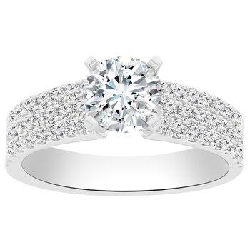 5/8ct tw Diamond Engagemen Ring Setting in 14K White Gold