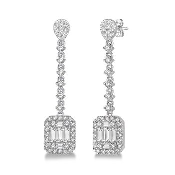 1 1/3ct tw Diamond Thousand Points of Light Fashion Earrings in 14K White Gold