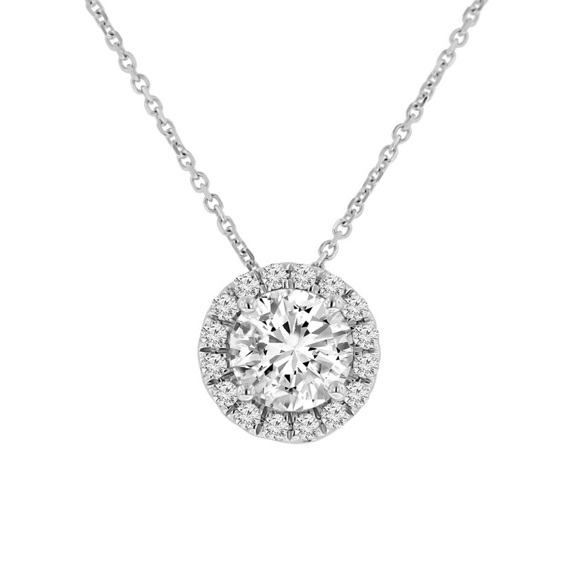 1 3/4ct tw NewBorn Lab Created Diamond Simply Love Collection Pendant in 14K White Gold
