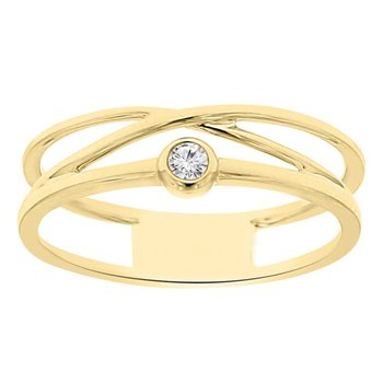 .05ct tw Diamond Fashion Ring in 14K Yellow Gold