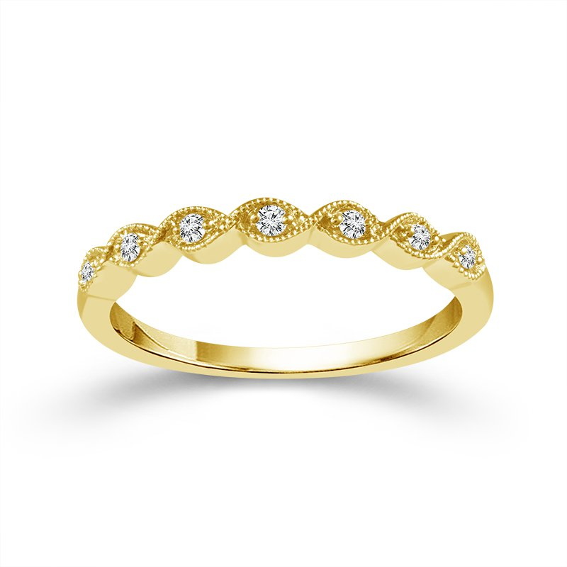 .05ct tw Diamond Stackable Ring in 10K Yellow Gold