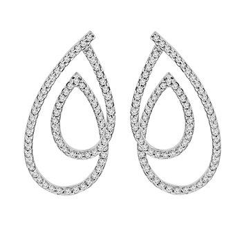 1ct tw Diamond Fashion Earrings in 14K White Gold