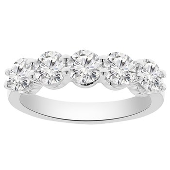 1 5/8ct tw NewBorn Lab Created Diamond Anniversary Ring in 14K White Gold