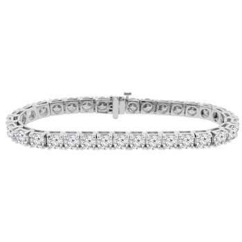 17ct tw NewBorn Lab Created Diamond Tennis Bracelet in 14K White Gold