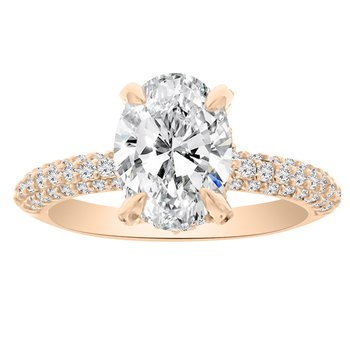 5/8ct tw NewBorn Lab Created Diamond Engagement Ring Setting in 14K Rose Gold