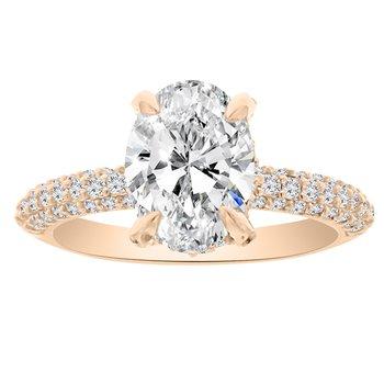 5/8ct tw NewBorn Lab Created Diamond Engagement Ring Setting in 14K Rose Gold