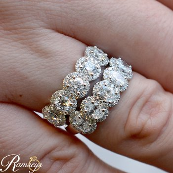1 1/4ct tw NewBorn Lab Created Diamond Fashion Ring in 14K White Gold