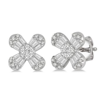 3/8ct tw Diamond Thousand Points of Light Stud Earrings in 14K White Gold