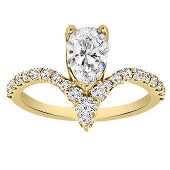 1 1/3ct tw NewBorn Lab Created Diamond Engagement Ring in 14K Yellow Gold