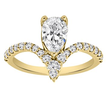 1 1/3ct tw NewBorn Lab Created Diamond Engagement Ring in 14K Yellow Gold