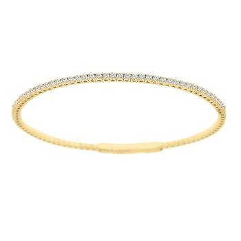 1ct tw NewBorn Lab Created Diamond Bangle Bracelet in 14K Yellow Gold