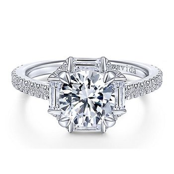 1 7/8ct tw NewBorn Lab Created Diamond Halo Engagement Ring in 18K White Gold