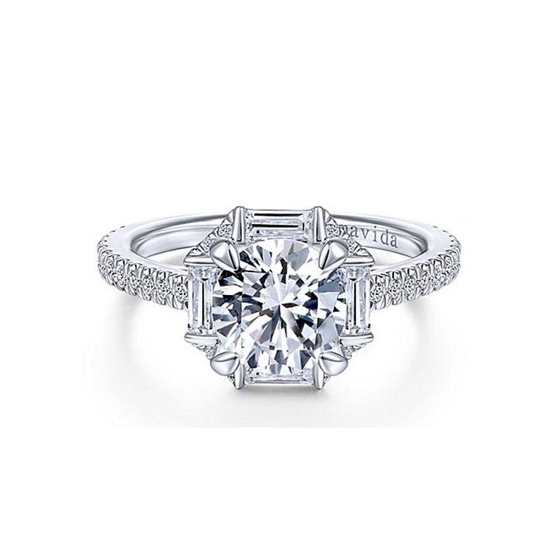 1 7/8ct tw NewBorn Lab Created Diamond Halo Engagement Ring in 18K White Gold