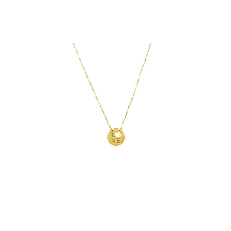 Disc Fashion Necklace in 14K Yellow Gold