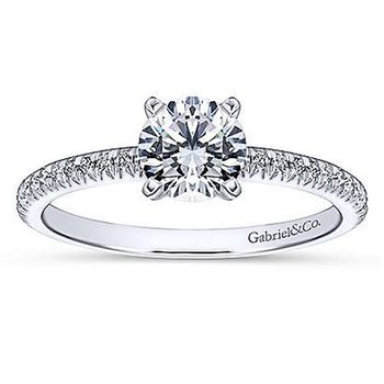 2 1/8ct tw NewBorn Lab Created Diamond Ring in 14K White Gold