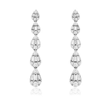 1 1/8ct tw Diamond Fashion Earrings in 14K White Gold