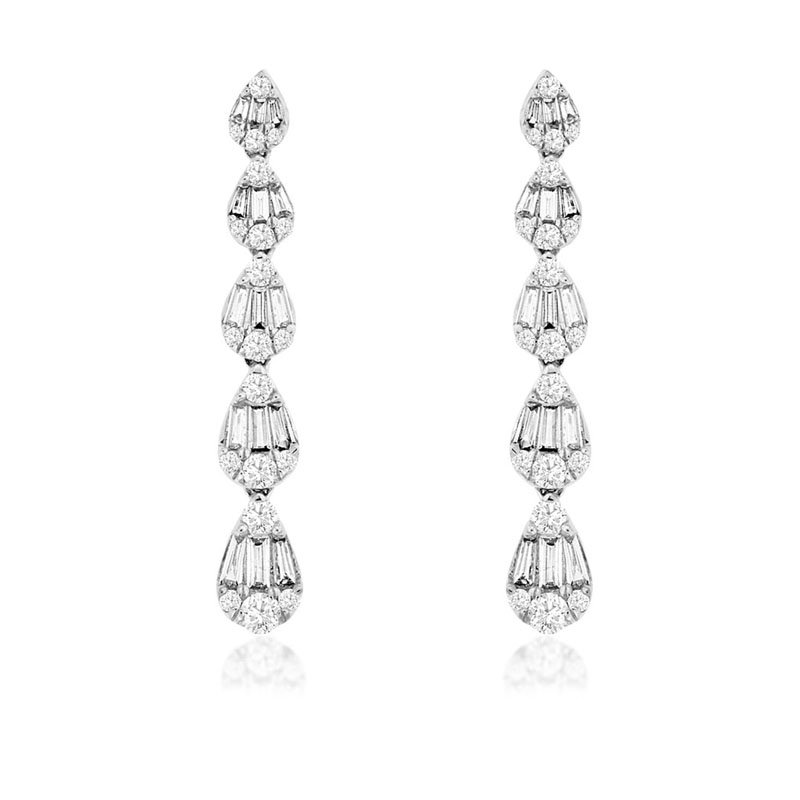 1 1/8ct tw Diamond Fashion Earrings in 14K White Gold