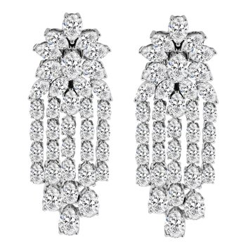 11 1/8ct tw NewBorn Lab Created Diamond Fashion Earrings in 14K White Gold