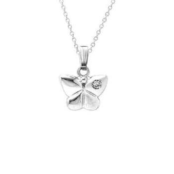 Children's Butterfly Necklace in Sterling Silver