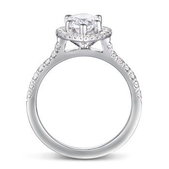 1 1/3ct tw Diamond Halo Engagement Ring in 14K White Gold