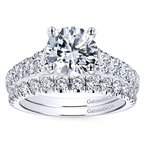 2 1/3ct tw Diamond Engagement Ring in 14K White Gold
