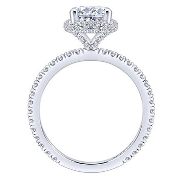 2 1/8ct tw Diamond Halo Engagement Ring in 18K White Gold