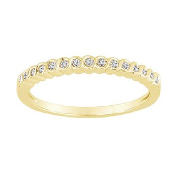 1/10ct tw Diamond Stackable Ring in 10K Yellow Gold