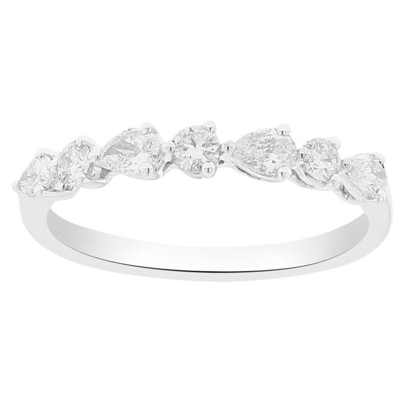 1/2ct tw Diamond Stackable Ring in 18K White Gold