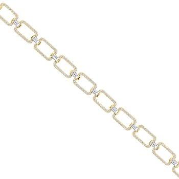 2 1/3ct tw Diamond Link Bracelet in 14K Yellow Gold